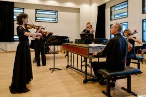 Met Laura Rafecas (viool), Ellen Sielcken (altviool), Eva Otero Picado (cello), Bas de Vroome (klavecimbel)